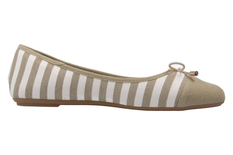 Fitters Footwear Ballerinas in Übergrößen Beige 2.514343 Taupe/White große Damenschuhe – Bild 4