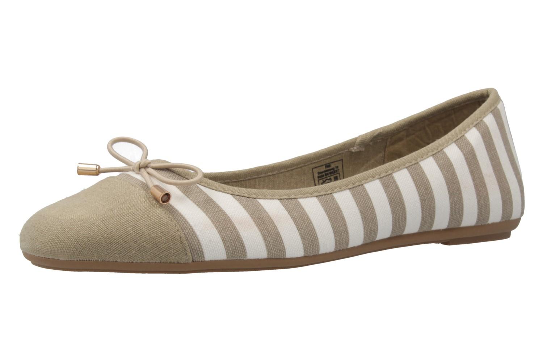 Fitters Footwear Ballerinas in Übergrößen Beige 2.514343 Taupe/White große Damenschuhe – Bild 1