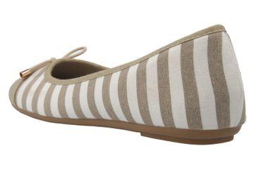 FITTERS FOOTWEAR - Grace - Damen Ballerinas - Taupe/Weiß Schuhe in Übergrößen – Bild 2