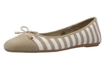 FITTERS FOOTWEAR - Grace - Damen Ballerinas - Taupe/Weiß Schuhe in Übergrößen – Bild 1