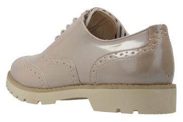 Fitters Footwear Halbschuhe in Übergrößen Beige 2.373202 Nude Patent große Damenschuhe – Bild 2