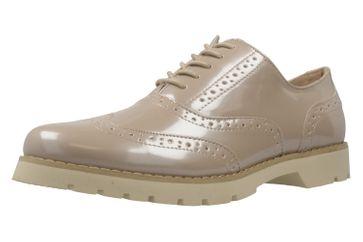 Fitters Footwear Halbschuhe in Übergrößen Beige 2.373202 Nude Patent große Damenschuhe – Bild 1