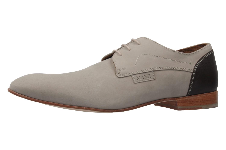 MANZ - Herren Business Schuhe - Terni - Grau Schuhe in Übergrößen – Bild 1