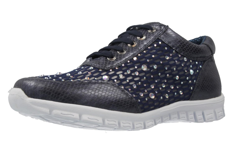 FITTERS FOOTWEAR - Diana - Damen Sneaker - Blau Schuhe in Übergrößen – Bild 1