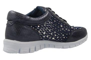 Fitters Footwear Diana Sneaker in Übergrößen Blau 2.971403 Navy große Damenschuhe – Bild 3