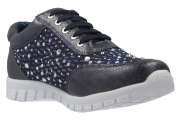 Fitters Footwear Diana Sneaker in Übergrößen Blau 2.971403 Navy große Damenschuhe – Bild 5
