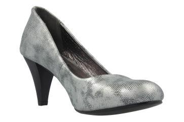 Fitters Footwear Pumps in Übergrößen Silber 2.469201 Silver PU Metallic große Damenschuhe – Bild 5