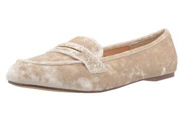FITTERS FOOTWEAR - Alena - Damen Ballerinas - Samt Beige Schuhe in Übergrößen – Bild 1