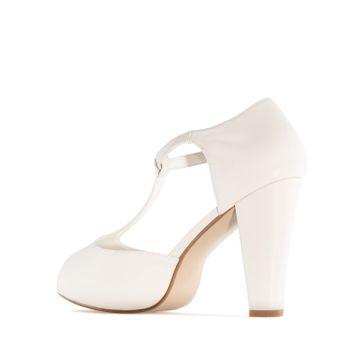 ANDRES MACHADO - Damen Charleston Sandale - Beige Schuhe in Übergrößen – Bild 1