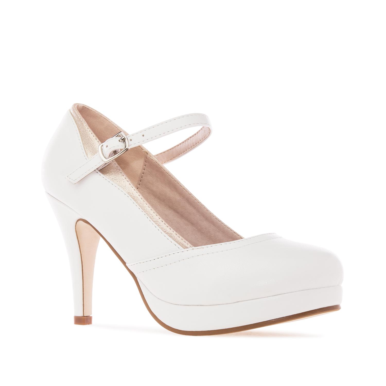 ANDRES MACHADO - Damen Spangenpumps - Weiße Schuhe in Übergrößen – Bild 3