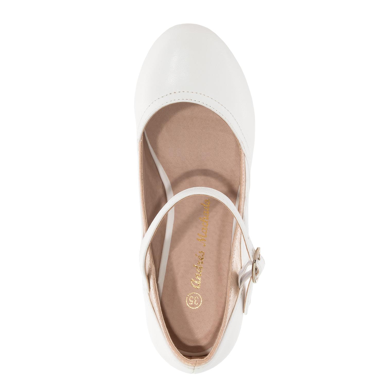 ANDRES MACHADO - Damen Spangenpumps - Weiße Schuhe in Übergrößen – Bild 4