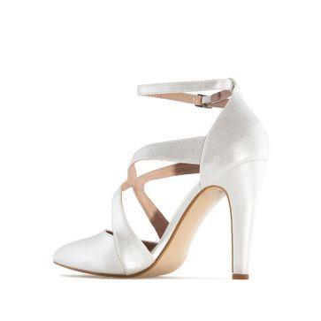 ANDRES MACHADO - Damen Pumps - Silber Schuhe in Übergrößen – Bild 1