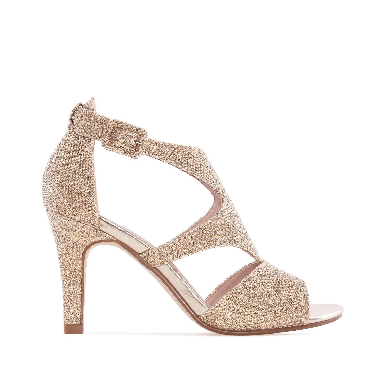 ANDRES MACHADO - Damen Sandalette - Gold Schuhe in Übergrößen – Bild 2