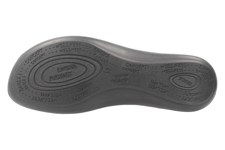 Romika Ibiza 70 Sandalen in Übergrößen Schwarz 16070 24 100 große Damenschuhe – Bild 6