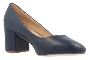 Fitters Footwear Pumps in Übergrößen Blau 2.978609 Navy PU große Damenschuhe – Bild 5