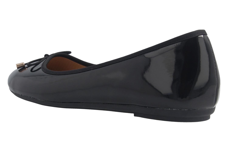Fitters Footwear Ballerinas in Übergrößen Schwarz 2.514378 Fiona Black Patent große Damenschuhe – Bild 2
