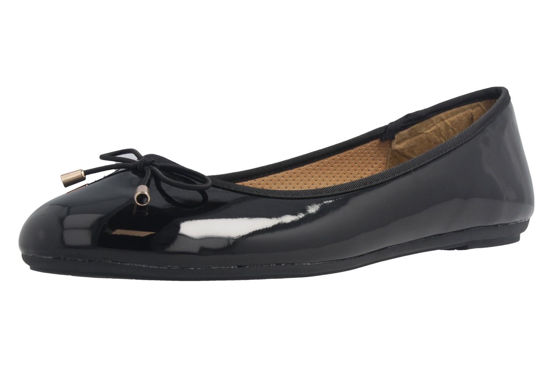 Fitters Footwear Ballerinas in Übergrößen Schwarz 2.514378 Fiona Black Patent große Damenschuhe – Bild 1