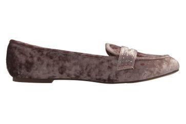 FITTERS FOOTWEAR - Alena - Damen Ballerinas - Samt Taupe Schuhe in Übergrößen – Bild 4