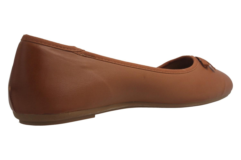 Fitters Footwear Ballerinas in Übergrößen Braun 2.589609 Helen Brandy PU große Damenschuhe – Bild 3