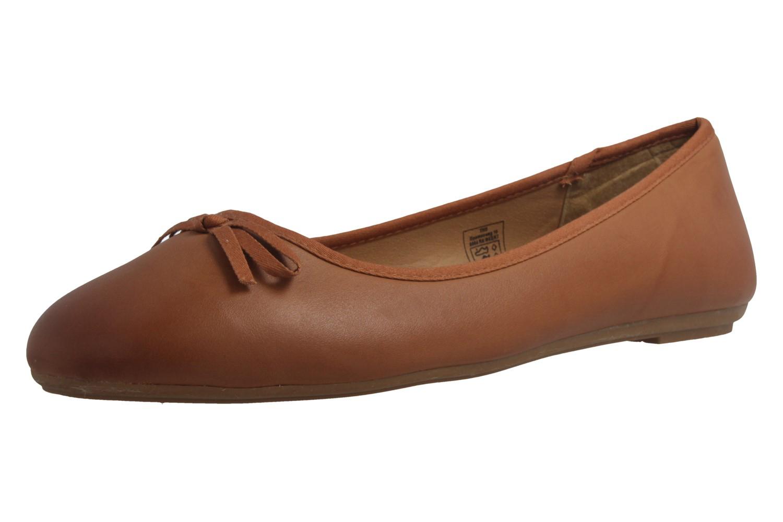Fitters Footwear Ballerinas in Übergrößen Braun 2.589609 Helen Brandy PU große Damenschuhe – Bild 1