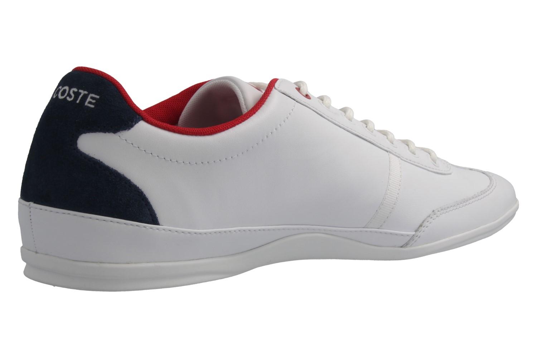 Lacoste Sneaker in Übergrößen Weiß 7-34CAM0046001 große Herrenschuhe – Bild 3
