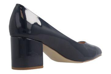 Fitters Footwear Pumps in Übergrößen Blau 2.978609 Navy Lack große Damenschuhe – Bild 3