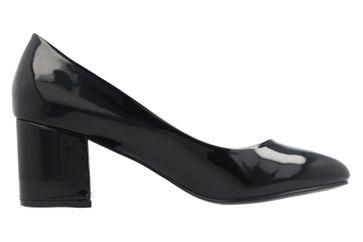 Fitters Footwear Pumps in Übergrößen Schwarz 2.978609 Black Lack große Damenschuhe – Bild 4