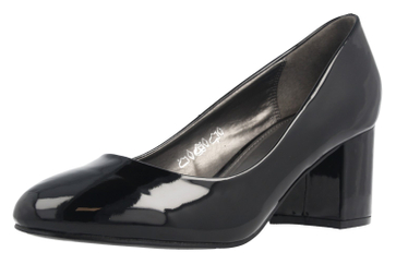 FITTERS FOOTWEAR - Sesy - Damen Pumps - Schwarz Lack Schuhe in Übergrößen – Bild 1