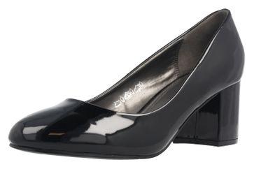 Fitters Footwear Pumps in Übergrößen Schwarz 2.978609 Black Lack große Damenschuhe