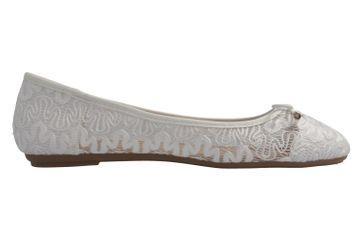 Fitters Footwear Ballerinas in Übergrößen Weiß 2.514377 Tina Weiß große Damenschuhe – Bild 4