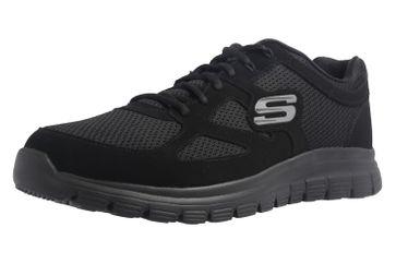 Skechers BURNS AGOURA Sneakers in Übergrößen Schwarz 52635/BBK große Herrenschuhe