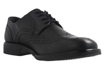 Fretz Men Business-Schuhe in Übergrößen Schwarz 8414.6462-51 große Herrenschuhe – Bild 5