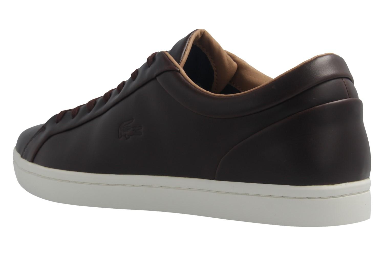 LACOSTE - Herren Sneaker - Straightset 317 - Braun Schuhe in Übergrößen – Bild 2