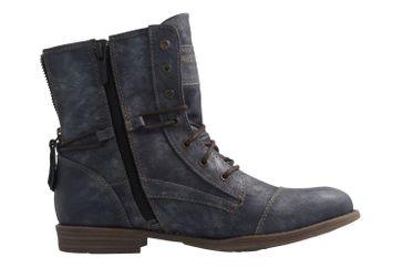 Mustang Shoes Boots in Übergrößen Blau 1157-551-820 große Damenschuhe – Bild 4