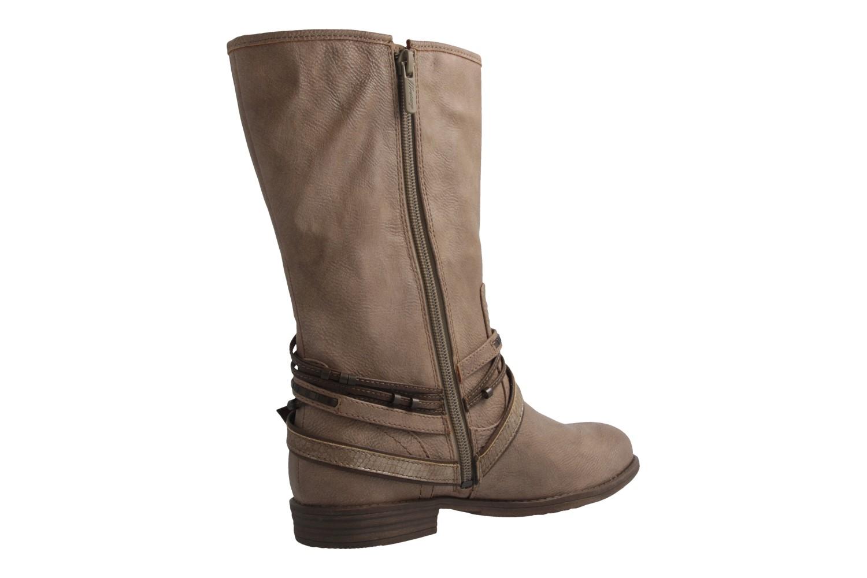 MUSTANG - Damen Stiefel - Beige Schuhe in Übergrößen – Bild 3