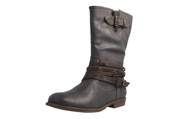 Mustang Shoes Stiefel in Übergrößen Grau 1157-531-20 große Damenschuhe – Bild 1