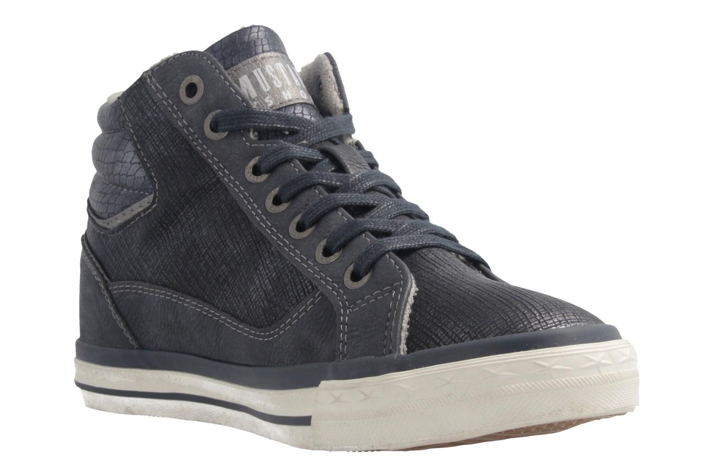 MUSTANG - Damen High Top Sneaker - Blau Schuhe in Übergrößen – Bild 5
