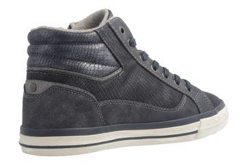 MUSTANG - Damen High Top Sneaker - Blau Schuhe in Übergrößen – Bild 3