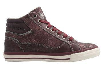 MUSTANG - Damen High Top Sneaker - Bordeaux Schuhe in Übergrößen – Bild 4