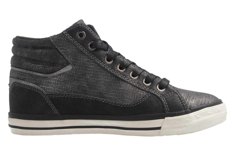 MUSTANG - Damen High Top Sneaker - Grau Schuhe in Übergrößen – Bild 4