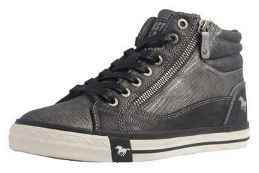 MUSTANG - Damen High Top Sneaker - Grau Schuhe in Übergrößen – Bild 1