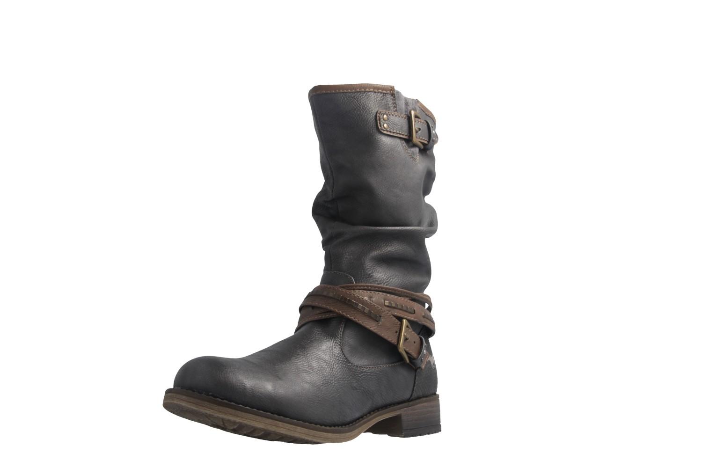 watch 2cff1 166bd Mustang Shoes Boots in Übergrößen Grau 1139-624-259 große Damenschuhe