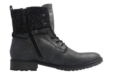 Mustang Shoes Boots in Übergrößen Grau 1265-504-259 große Damenschuhe – Bild 4