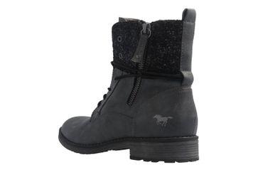 Mustang Shoes Boots in Übergrößen Grau 1265-504-259 große Damenschuhe – Bild 2