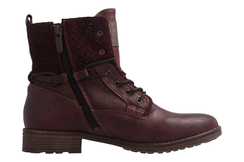 Mustang Shoes Boots in Übergrößen Rot 1265-504-55 große Damenschuhe – Bild 4