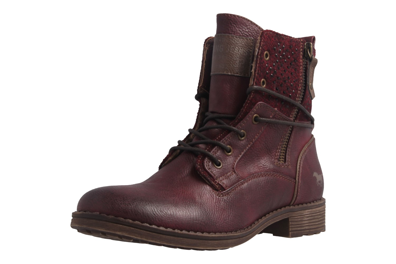 Mustang Shoes  Boots in Übergrößen Bordeaux 1265-504-55 große Damenschuhe – Bild 1