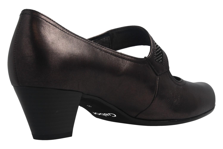 GABOR - Damen Spangenpumps Trotteur - Grau Schuhe in Übergrößen – Bild 3