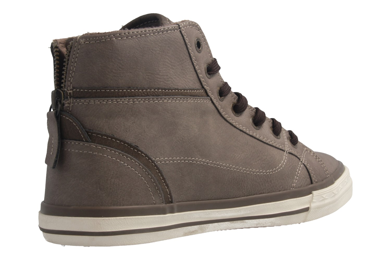 Mustang Shoes High Top Sneaker in Übergrößen Braun 1209-502-308 große Damenschuhe – Bild 3
