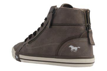 Mustang Shoes  High Top Sneaker in Übergrößen Erde 1209-502-308 große Damenschuhe – Bild 2