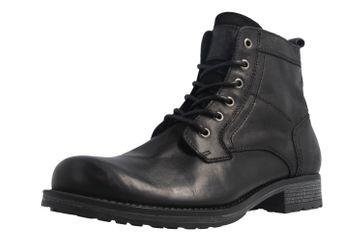 Mustang Shoes Boots in Übergrößen Schwarz 4865-507-9 große Herrenschuhe